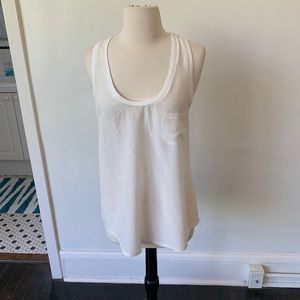JOIE Silk White Tank Top Blouse